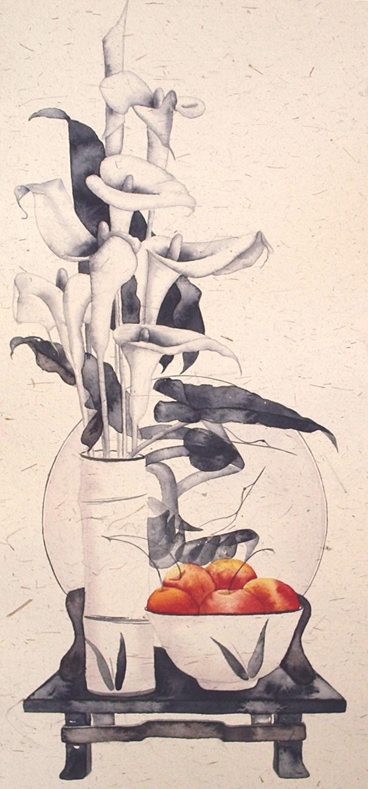 Calla Lilies and Crabapples