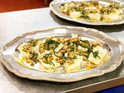 Turbot, clams, samphire