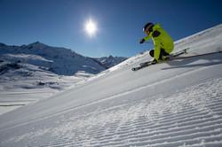 Esquiador Pista