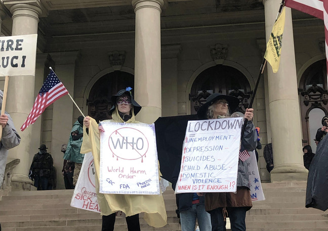 Stay at Home Protest, Lansing Michigan