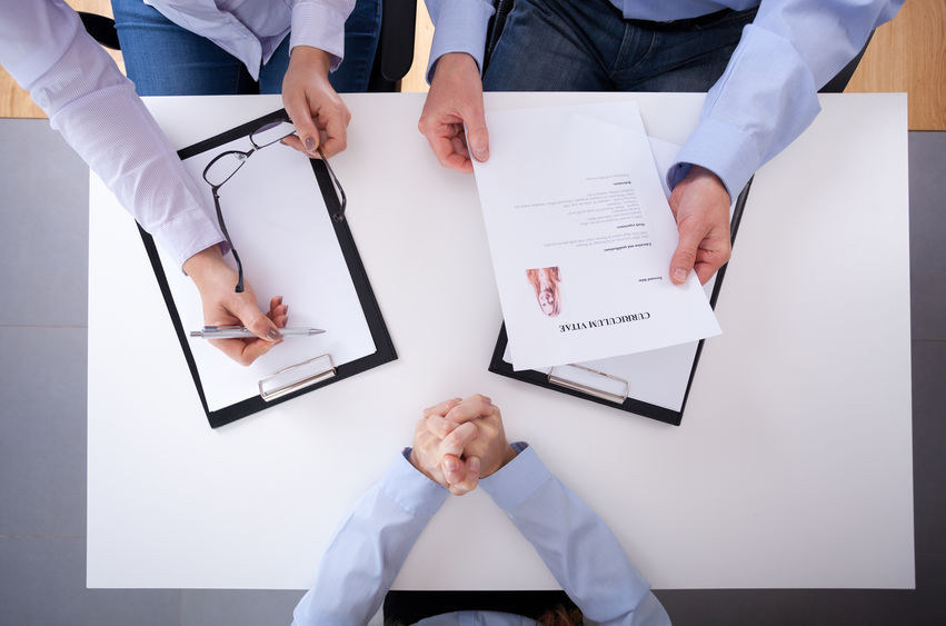 HR Managers analysing candidate CV