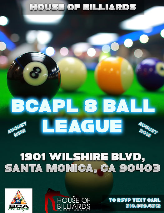 House of Billiards Santa Monica 8 Ball League