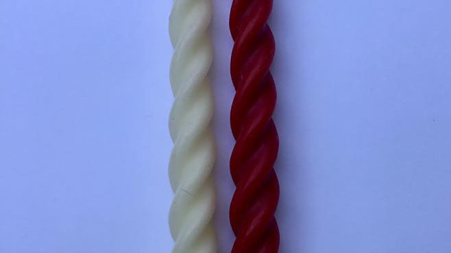 3 Large Spiral Candles