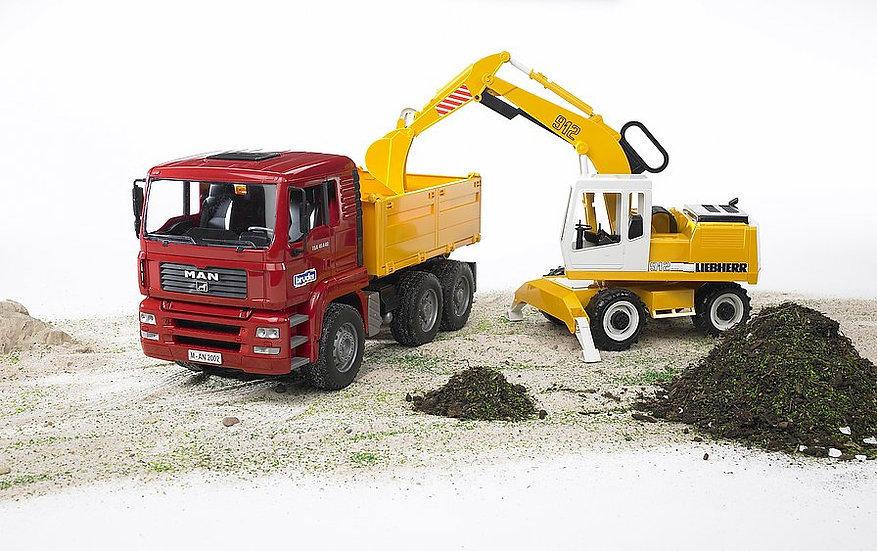 camion con escavarore bruder