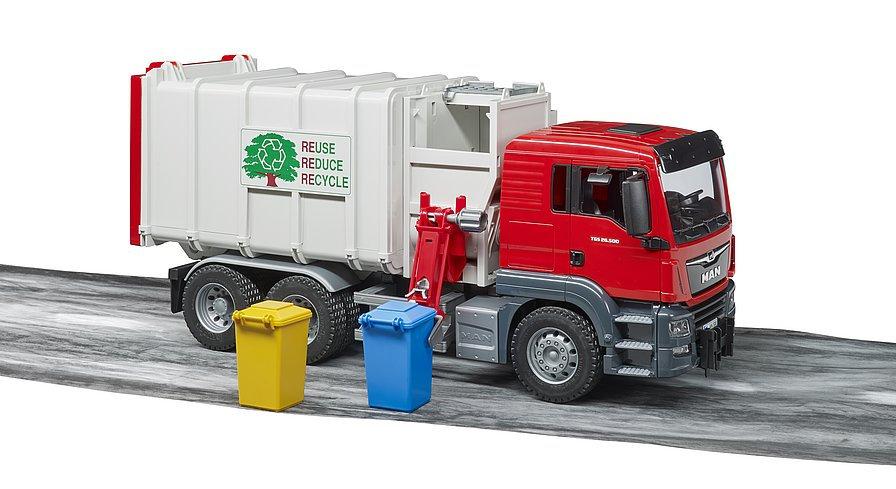 Camion dei rifiuti MAN TGS a carico laterale