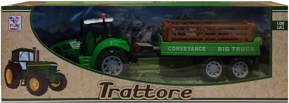 trattore con rimorchio giocattolo