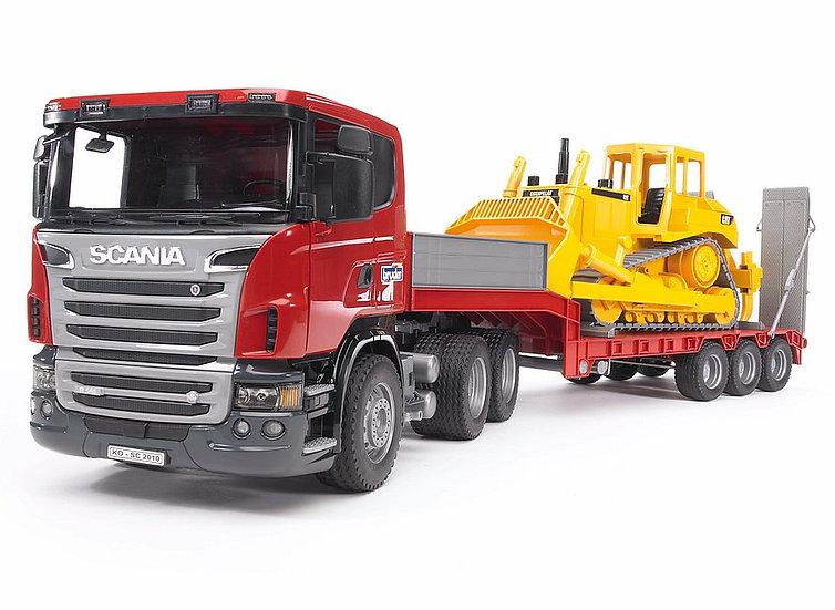 camion scania con buldozer
