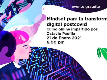 Video Conversatorio Mindset para la transformación digital postcovid invitacion