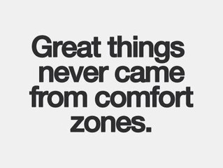Great Things Never Came From Comfort Zones…Keeping SCORE of changes!