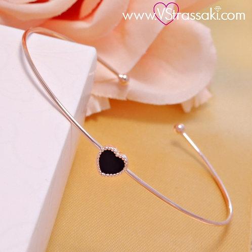 Βραχιόλι Χειροπέδα από Ορείχαλκο Slim Bracelet Ροζ Χρυσό 6102