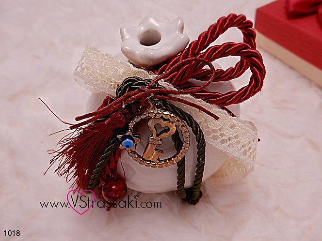 Γούρι με Ρόδι White Pomegranate Charm 1018