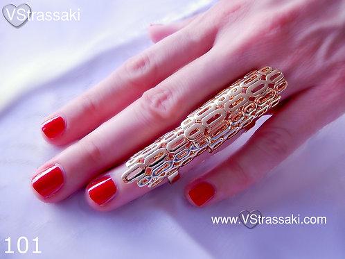 Διπλό Δαχτυλίδι σε ασημί χρώμα 101