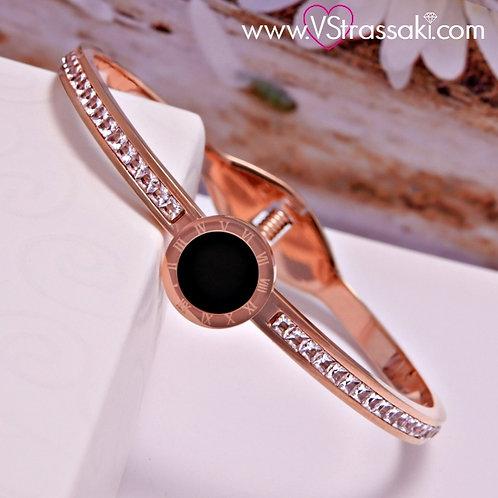 Βραχιόλι Χειροπέδα από Ορείχαλκο Galaxy Bracelet Ροζ Χρυσό 6052