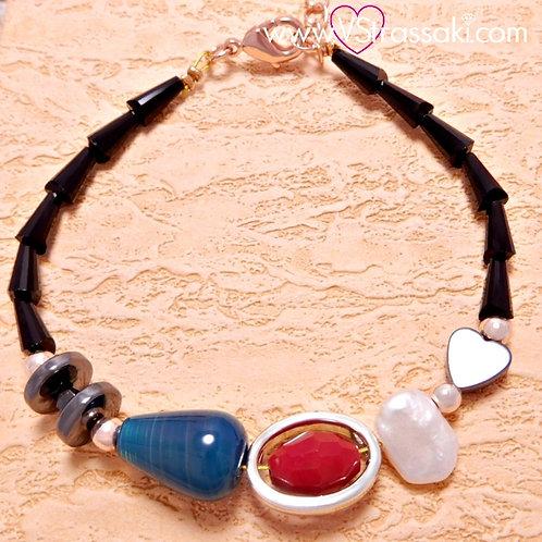 Βραχιόλι Με Καρδιά από Αιματίτη 6161
