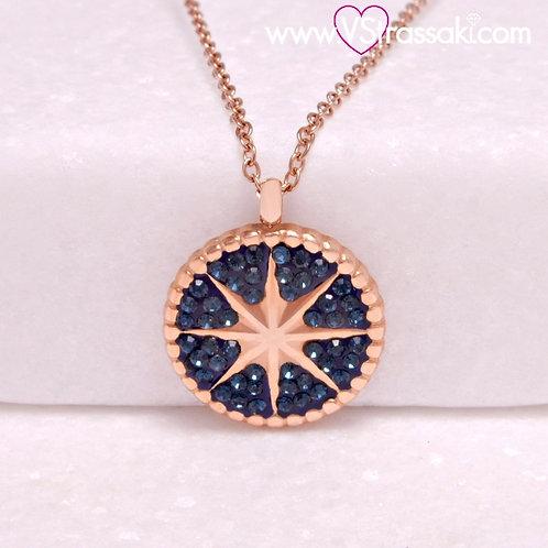 Ατσάλινο Κολιέ με τον Βόρειο Πολικό Αστέρα, Αστέρι του Βορρά Ροζ Χρυσό 4409