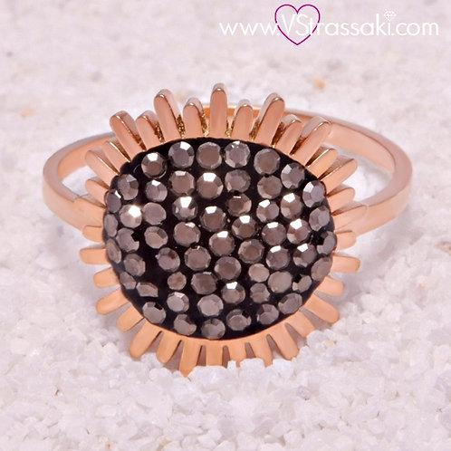 Ατσάλινο Δαχτυλίδι Ροζ Χρυσό 2112