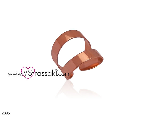 Δαχτυλίδι SteelRing Από Ατσάλι Ροζ Χρυσό 2085
