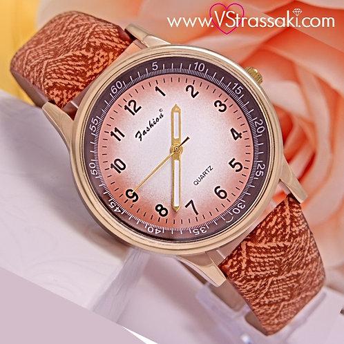 Γυναικείο Ρολόι Fashion Με Υφασμάτινο Λουράκι SimpleTime Χρυσό 5024