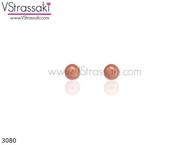 Σκουλαρίκια Καρφωτά 0.3cm  DailyChoice Ροζ Χρυσό Από 925 Ασήμι 3080