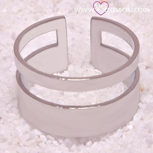 Ατσάλινο Δαχτυλίδι Δίσειρο Ασημί 2121