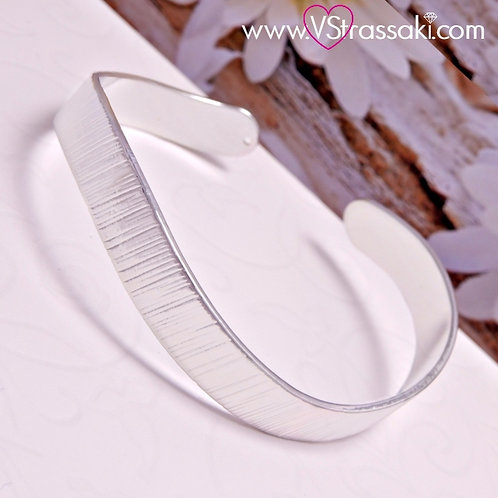 Βραχιόλι Χειροπέδα από Ορείχαλκο Galaxy Bracelet Ασημί 6053