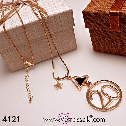 Κολιέ με Αστέρι Twenty Necklace Χρυσό 4121