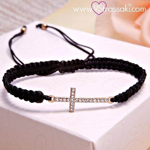 Βραχιόλι Με Σταυρό Cross Bracelet 6107