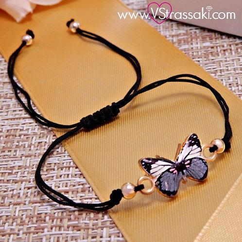Βραχιόλι Με Πεταλούδα Butterfly Bracelet 6075