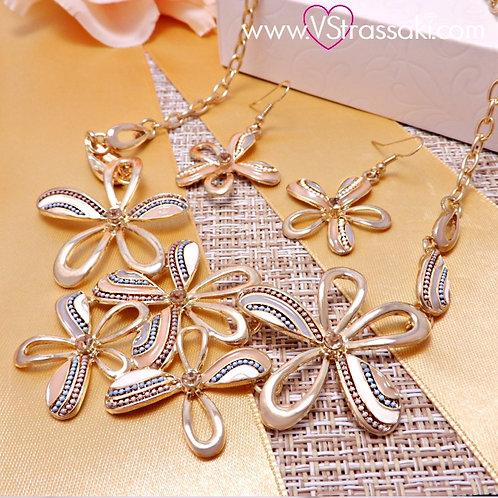 Σετ Kολιέ με Σκουλαρίκια Floral Set  4064