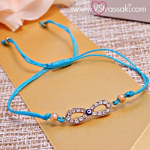 Βραχιόλι Με Άπειρο και Ματάκι Infinity Bracelet 6082