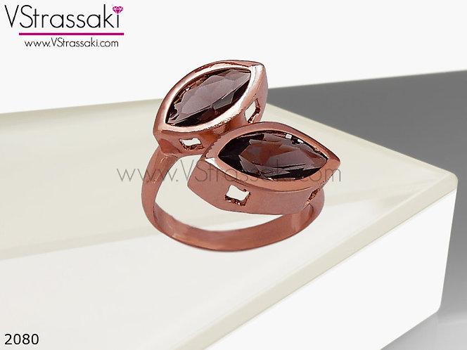 Δαχτυλίδι Μεταλλικό RTwins Ροζ Χρυσό 02080
