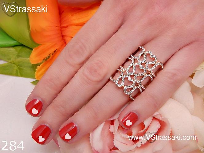 Δαχτυλίδι με Καρδιές 284