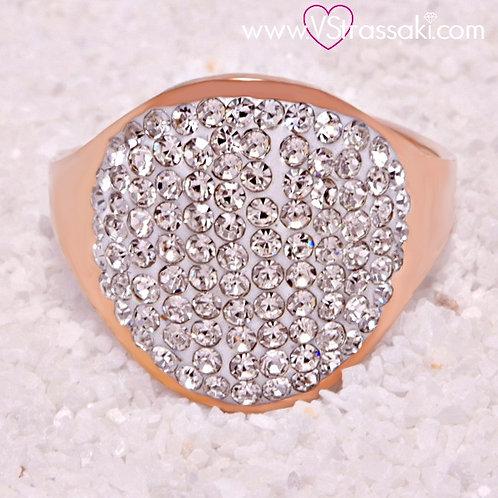 Ατσάλινο Δαχτυλίδι Στρογγυλό Ροζ Χρυσό 2156