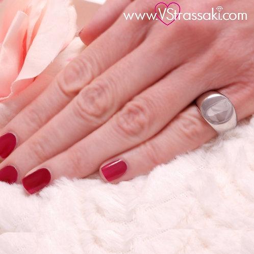 Ατσάλινο Δαχτυλίδι Σεβαλιέ Minimal Ασημί 2158