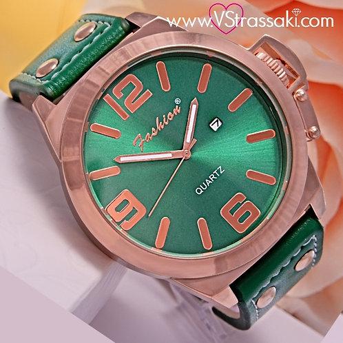 Γυναικείο Ρολόι Fashion με Λουράκι Δερματίνη Simple Time Ροζ Χρυσό 5031