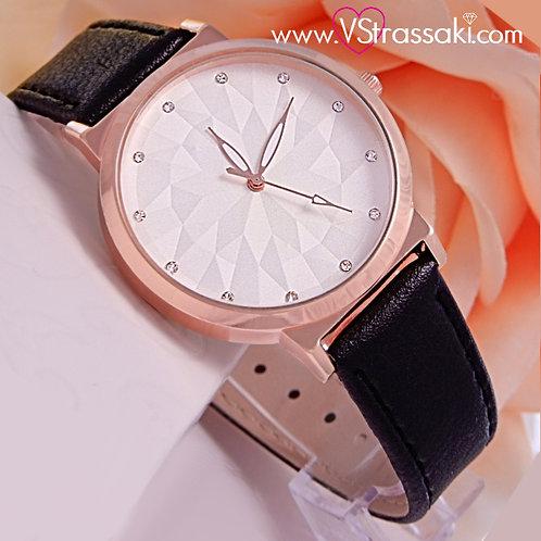 Γυναικείο Ρολόι CUCOO Με Λουράκι Δερματίνη IllusionTime Ροζ Χρυσό 5013