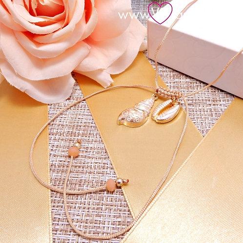 Κολιέ με Κοχύλια SeaShell Choker Necklace Χρυσό 4131
