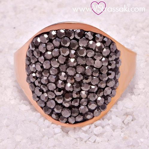 Ατσάλινο Δαχτυλίδι Στρογγυλό Ροζ Χρυσό 2135