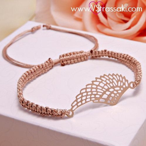 Βραχιόλι Με Φτερό Feather Bracelet 6098