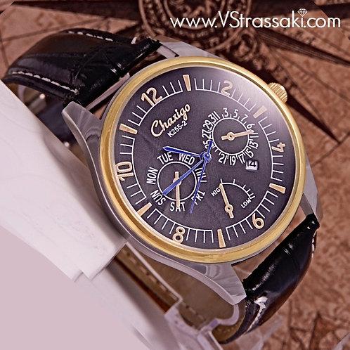 Ανδρικό Ρολόι με Λουράκι Δερματίνη HorizonTime 5045