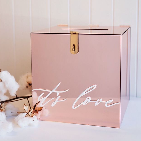 ROSE GOLD 'ITS LOVE 'CARD BOX