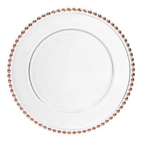 ROSE GOLD BEADED CHARGER PLATES