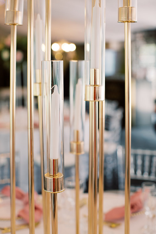 GOLD 1.2M CANDLE HOLDER