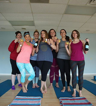 yoga party!  SO grateful for all of you!