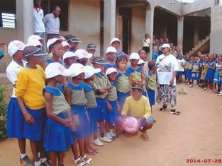 Wilson caps for Ghana School Aid Project