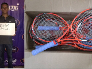 ITF Junior Donates Rackets for Africa
