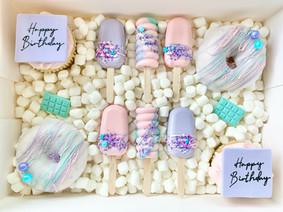 Pastel Birthday TREAT BOX