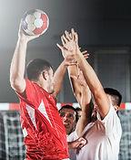Handball tir et la défense
