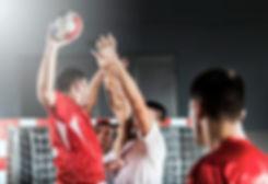 Handball shot and defense