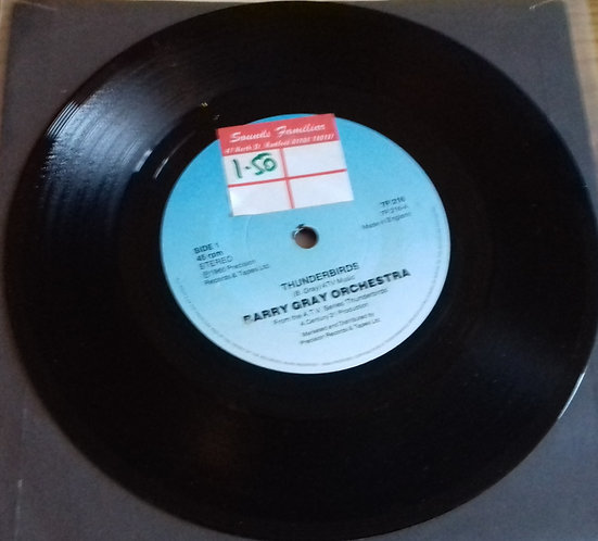 "Barry Gray Orchestra* - Thunderbirds (7"", Single, RE, Blu) (PRT)"